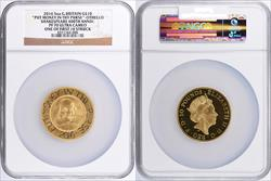 """""""2016 Great Britain William Shakespeare Gold 10 Pounds """"""""Put Money in thy Purse"""""""" One of 1st 10 Struck PF70 UCAM"""""""