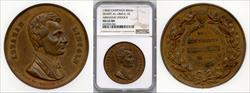 1860 Abraham Lincoln Campaign Medal DEWITT-AL-1860-6 MS62 BN NGC