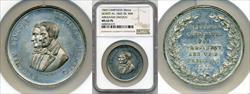 1860 Abraham Lincoln Campaign Medal DEWITT-AL-1860-28 MS62 PL NGC