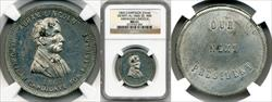 1860 Abraham Lincoln Campaign Medal DEWITT-AL-1860-35 MS61 NGC