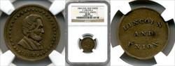 1864 Lincoln and Union Civil War Token F-128/290 d XF45 NGC