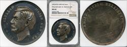 No Date General George B. McClellan Medal White Metal MS64 NGC