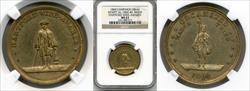 1860 Hartford Wide Awakes Medal DEWITT-AL1860-40 MS63 NGC