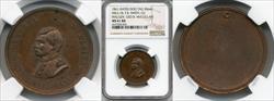 1861 Civil War Dog Tag Major General George B. McClellan M&S-1B F.B. Smith MS61 RB NGC