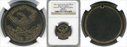 1861 War of 1861 Brass Dog Tag M&S-5A AU55 NGC