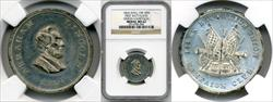 1864 Abraham Lincoln First Batallion Union Campaign Medal King-100 MS62 NGC