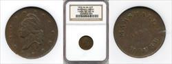 1859 Marshall House Storecard M-VA-103 AU58 BN NGC