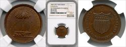 1860 No Submission to North Civil War Token MS64 BN NGC