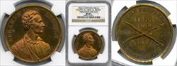 1860 Abraham Lincoln Campaign Medal DEWITT-AL-1860-12 MS63 NGC