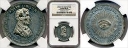 1860 Abraham Lincoln Campaign Medal DEWITT-AL-1860-34 MS60 NGC