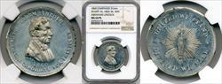 1860 Abraham Lincoln Campaign Medal DEWITT-AL-1860-36 MS64 PL NGC