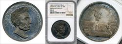 1860 Abraham Lincoln Campaign Medal DEWITT-AL-1860-10 MS62 NGC