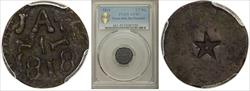 1818 1/2 RL Texas Jola Sm Planchet XF45 PCGS