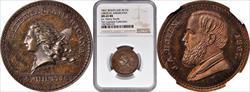 (1867) Medalet Rulau Ma-Sp-42 JAB-30 Brass J.A. Bolen MS65 NGC
