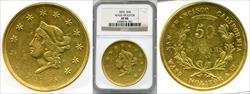 1855 $50 Wass Molitor & Co. XF40 NGC