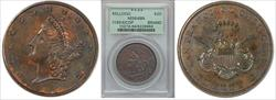 (1854) $20 Kellogg Copper DT MS64BN PCGS
