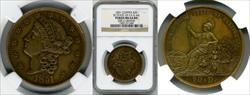 1851 $20 State of California K-4 MS64 NGC
