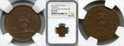 1863 Token F-254/255 Copper Money Makes the Mare Go MS65BN NGC