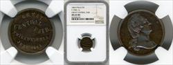 1864 Great Central Fair F-750L-1a MS65 BN NGC