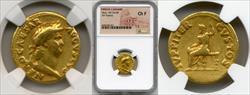 54-68 AD Nero Gold Aureus NGC CH F