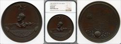 (c.1868) Medal J-PE-10 Aluminum Cyrus Field MS66 NGC