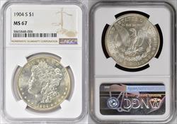 1904-S $1 MS67 NGC