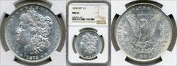 1878 8TF $1 MS63 NGC
