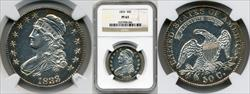1833 50C Crushed Lettered Edge PR63 NGC