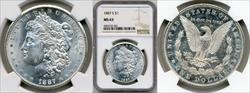 1887-S $1 MS63 NGC