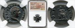69 AD Vitellius Silver Denarius NGC XF Scuffs Edge Chip