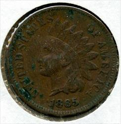 1865 Indian Head Cent Penny BQ64
