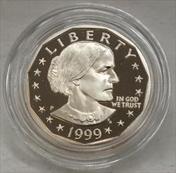 1999 Susan B Anthony Proof Dollar Coin US Mint OGP United States - BH288