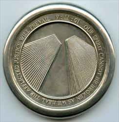 World Trade Center 9/11 In Memory 925 Silver Medal Theo Fennell Twin Tower BP573