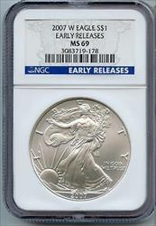 2007 W American  Eagle 1 oz NGC Early Releases   JK198