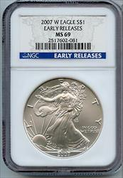 2007 W American  Eagle 1 oz NGC Early Releases  JK197