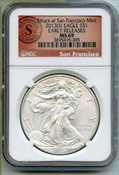 2013(S) American Eagle 1 oz   NGC Early Releases BQ214