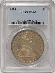 1852 Seated Liberty   PCGS Certified $1   JY022
