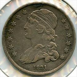 1831 Capped Bust Quarter  AD894