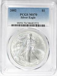 2002 American  Eagle  PCGS  Mint State 70