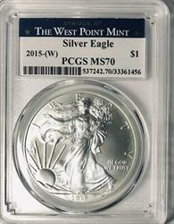 2015 (W) American  Eagle  PCGS   Mint State 70