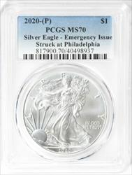 2020 (P) American  Eagle  Emergency Issue  PCGS