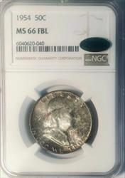 1954 Franklin Half   NGC FBL CAC  Full Bell Lines