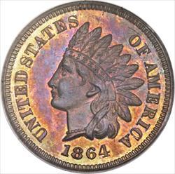 "1864 Indian Head Cent, ""L on Ribbon"" -- PCGS PR64RB"