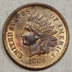 1880 Indian Cent, Uncirculated, Considerable Red Remaining