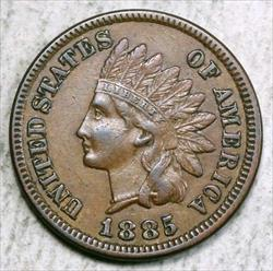 1885 Indian Cent, Choice Extremely Fine