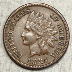 1885 Indian Cent, Almost Uncirculated