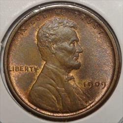 1909 Lincoln Cent, Choice Uncirculated, Nice Color