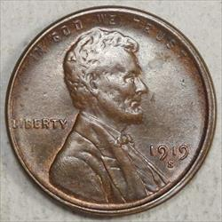 1919-S Lincoln Cent, Uncirculated, Nice Color