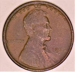 1922-D Lincoln Wheat Cent; Nice AU