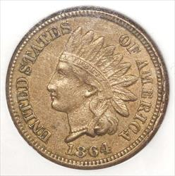 1864 Copper Nickel Indian Cent, Choice Almost Uncirculated, NGC AU-58, Type Coin